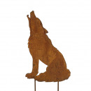 Metal plug 'crying wolf', height 55cm widt